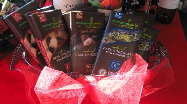 Endangered Species Chocolate bars for Valentines day