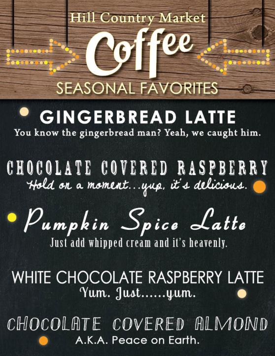 Early Winter Coffee Specials