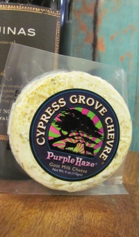Purple Haze Cheese with Wine